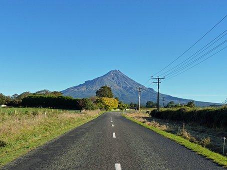 Mountain, New Zealand, Ocean, Water, Nature, Coast