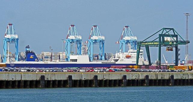 Zeebrugge, Port, Auto Embarkation, Roll-on-roll-off