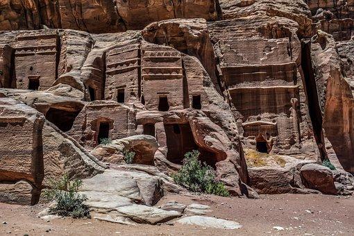 Petra, Jordan, Caves, Ancient, Monument, Architecture