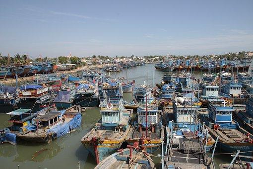 Fishing Boat, Port, Lagi, Binh Thuan, Vietnam