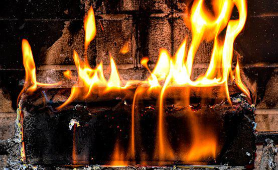 Fireplace, Fire, Flame, Burn, Heat, Hot, Embers, Glow