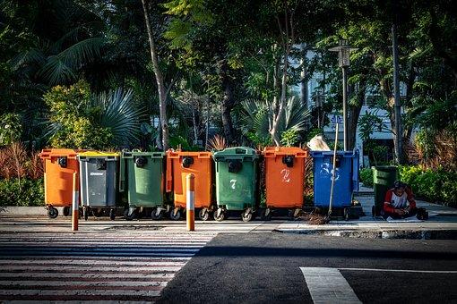 Trash, Bin, Garbage, Recycle, Waste, Plastic, Disposal