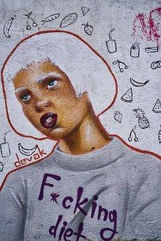 Graffiti, Painting, Art, Wall, Urban, People