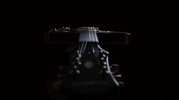 Guitar, Instrument, Black, Music, Rock, Jazz, Strings