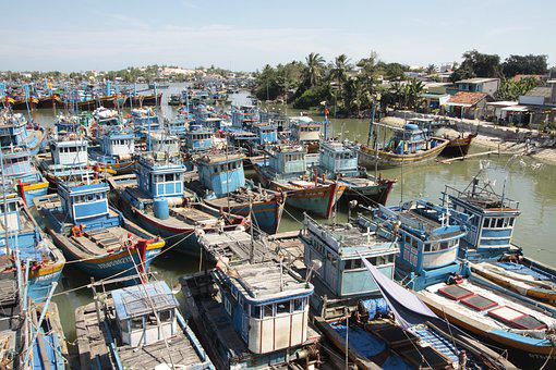 Fishing Boat, Port, Lagi, Binh Thuan, Thuyen, Thuyen Go
