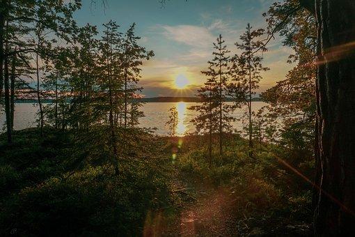 Sunset, Lake, Sweden, Yacht, Sailboat, Boat, Water, Sea