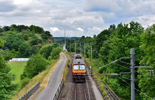 Train, Locomotive, Transport, Rails, Track, Luxembourg