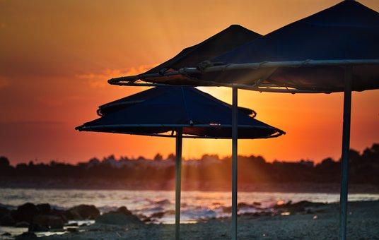 Sunrise, Sea, Nature, Vacations, Beach, Greece