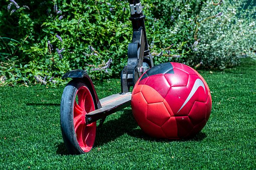 Scooter, Nike, Soccer Ball, Football, Sport, Play