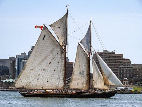 Tall Ships, Bluenose 2, Nova Scotia, Canada, Ocean