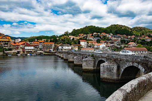 Spain, Bridge, River, Old, Galicia, Landscape, Tourism