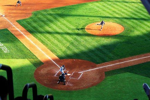Baseball, Stadium, Pro Baseball, The, Game, Pitcher