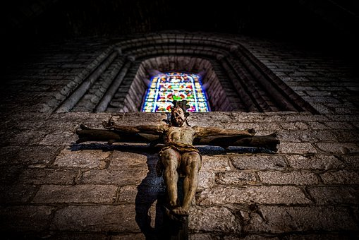 Jesus, Cross, Stained Glass, Catholic, Religion, Christ