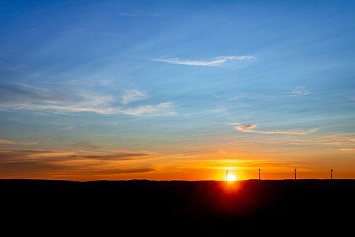 Sunrise, Rising Sun, Sun, Sky, Landscape, Morning