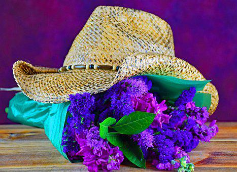 Flowers, Bouquet, Cowboy, Western, Love, Romance