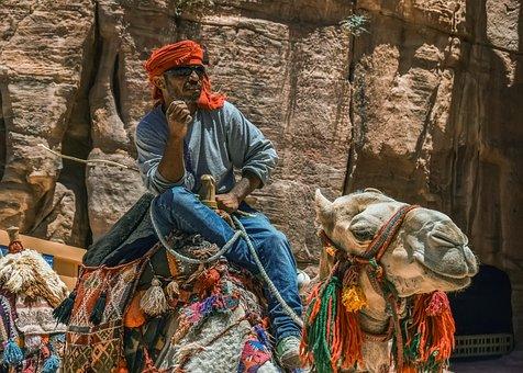 Camel, Camelliers, Al Siq Canyon, Heat, Summer