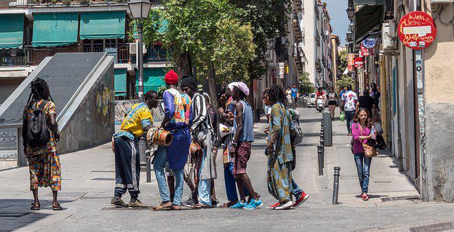 Madrid, Group, Multicultural, People, Tourism, Together