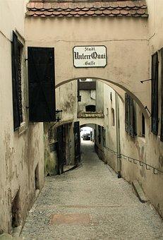 Alley, Narrow, Eng, Romantic