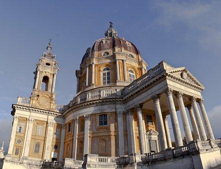 Superga, Torino, Italy, Turin, Hill, Architecture
