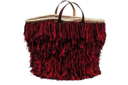 Nakwa, Basket, Bag, Trend, South Of France, Wool Fringe