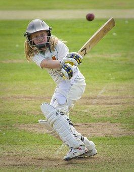 Cricket, Batting, Batter, Girl, Junior, Sport, Bat