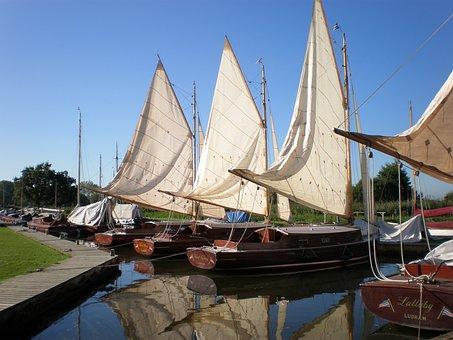 Sailing Boats, Sailing, Boats, Norfolk Broads