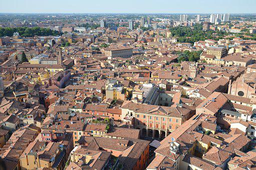 Bologna, View From The Top, Downtown