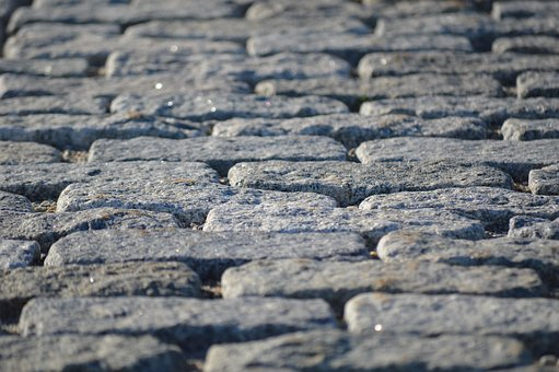 Cobblestones, Maine, Street, Bricks, Paving Stones