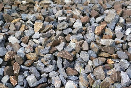 Bahnschotter, Stones, Colorful, Grey, Grey Blue, Brown