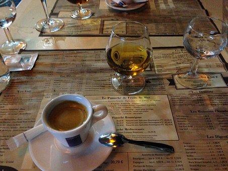 Cafe, Coffee, Nice, France, Côte D ' Azur, Cognac, Menu