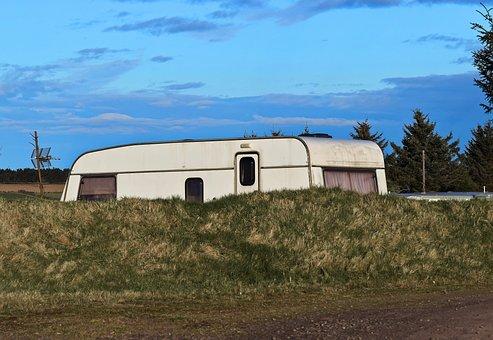 Caravan, Park, Summer, Vacation, Holiday, Camp, Camping