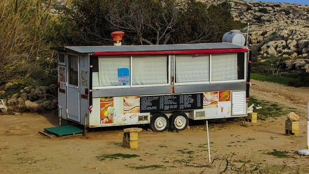 Street Food, Caravan, Cyprus, Canteen, Van, Cafe