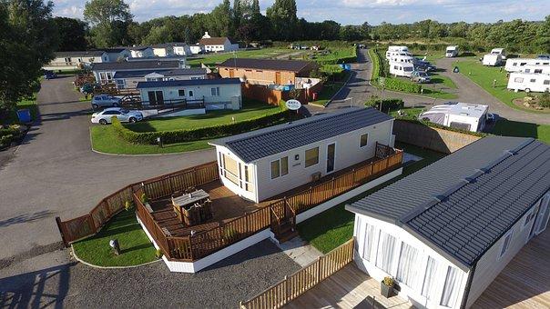 Aerial, Caravan Park, Caravan, Luxury, Cawood Park