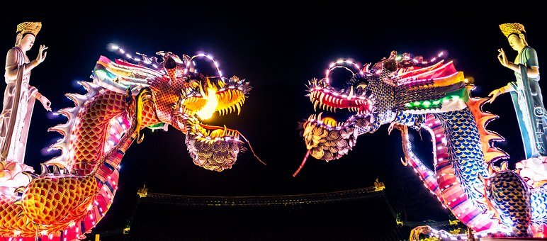 Dragons, Chinese, Chinese Dragon, Culture, China, Asian