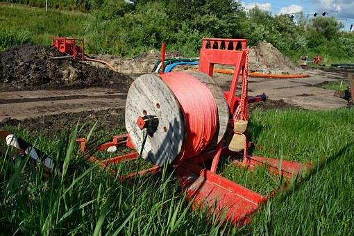 Spool, Rope, Winding, Equipment, Construction Site
