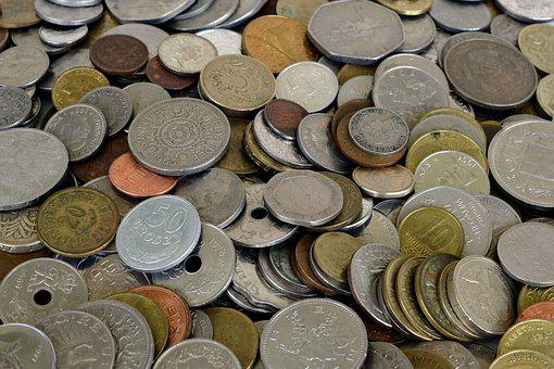 Coins, Money, Currency, Specie, Loose Change, Metal