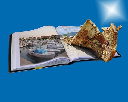 Book, Boot, Photo Montage, Composing, Read, Enjoy, Port