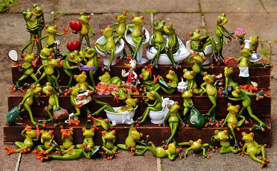 Frogs, Find The Error, Many, Frog Assembly, Cute