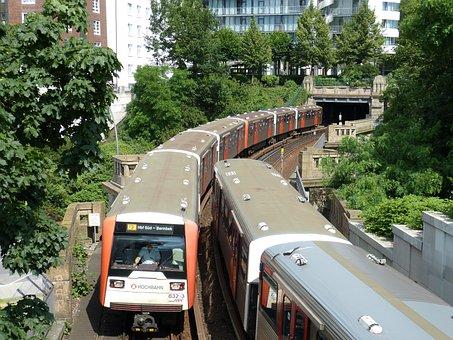 Hamburg, Hanseatic City, Germany, Traffic, Railway