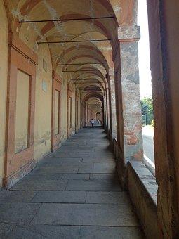 Bologna, St Luke, Portici, Italy, Art, Old, Historian