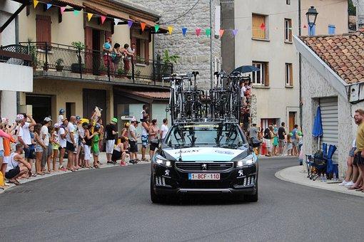 Tour De France, Cycling, Jaujac, Caravan
