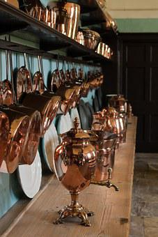 Copper Samovar, Copper Utensils, Kitchen, Ornate, Shiny