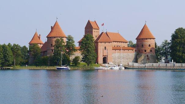 Trakai Castle, Lake, Europe, Historic, Lithuania