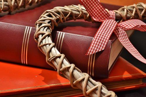 Book, Gift, Read, Packaging, Heart, Love, Romance