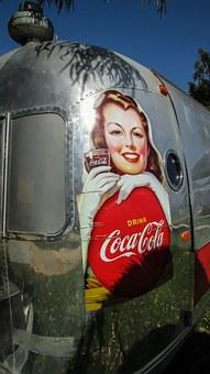 Caravan, Trailer, Soda Fountain, Mobile, Vintage