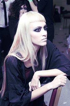 Model, Long Blonde, Hair, Hairshow, Fringe, Backstage