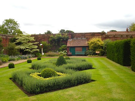 Norfolk, England, Great Britain, Garden, Buildings