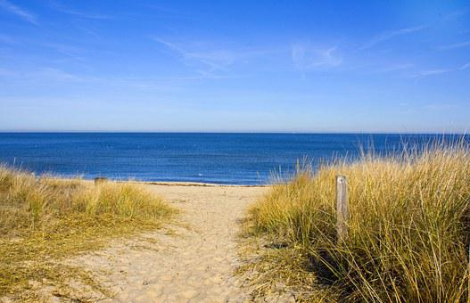Beach, Ocean, View, Norfolk, Virginia, Summer, Vacation
