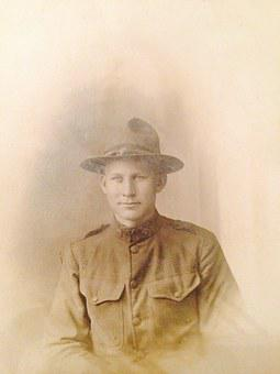 Old Picture, World War I, Us Soldier, Off To War, Army