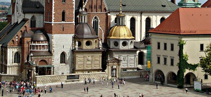 Wawel, Castle, Poland, The Castle Courtyard, Building